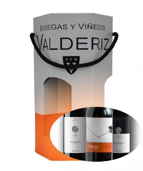 PACK REGALO 3 BOT VALDEHERMOSO ROBLE+CRIANZA+VALDERIZ