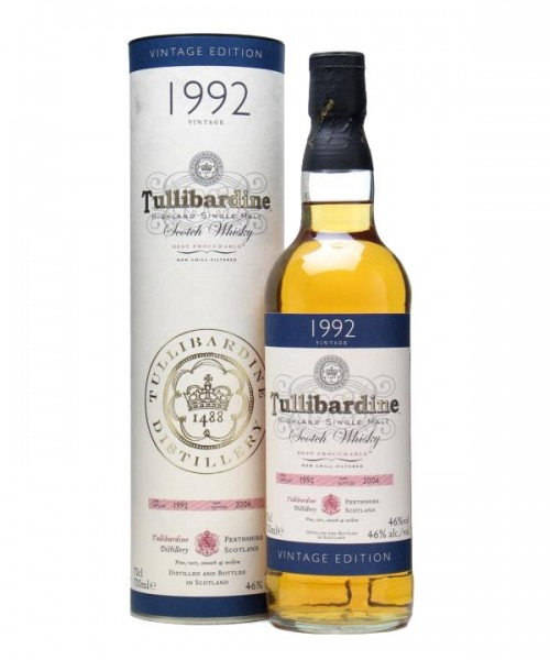 TULLIBARDINE VINTAGE 1992 SINGLE MALT 0,7