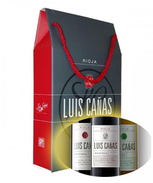 PACK REGALO LUIS CAÑAS CRIANZA+RESERVA+F.BARRICA